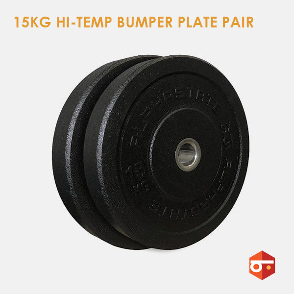New 15kg Hi-Temp Bumper Plate Pair