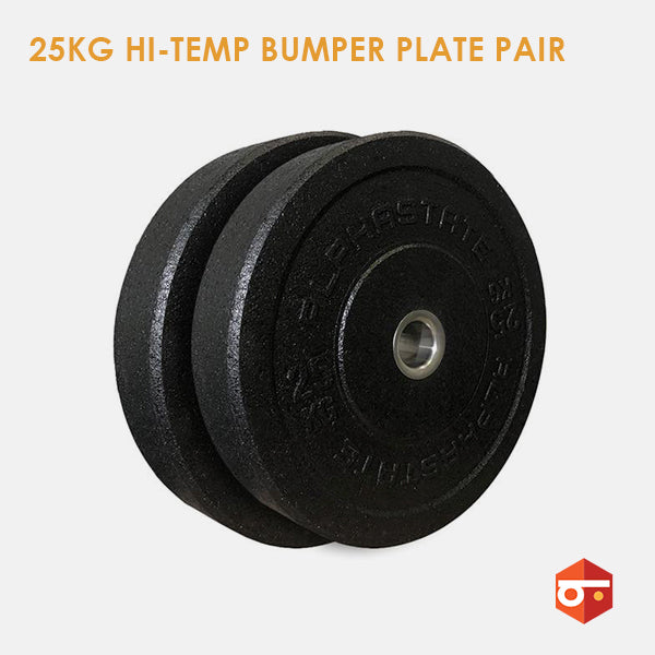 New 25kg Hi-Temp Bumper Plate Pair