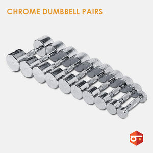 New Chrome Dumbbell Pairs