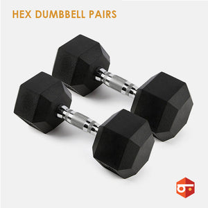 Benched Fitness Hex Dumbbell Pairs