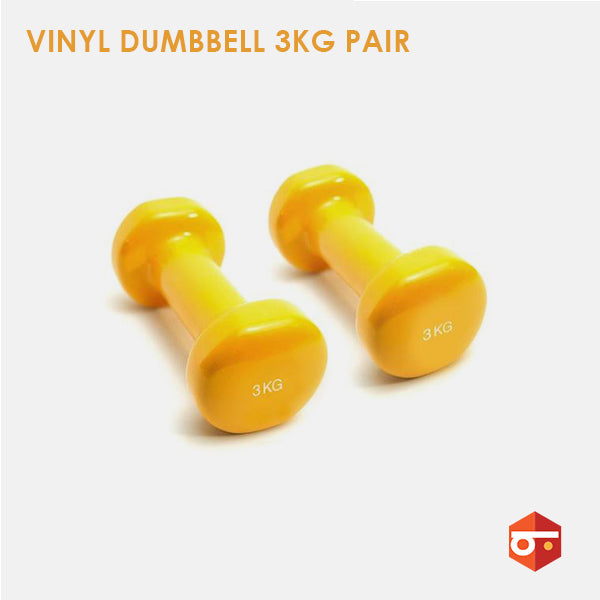 New 3kg Vinyl Dumbbell Pair