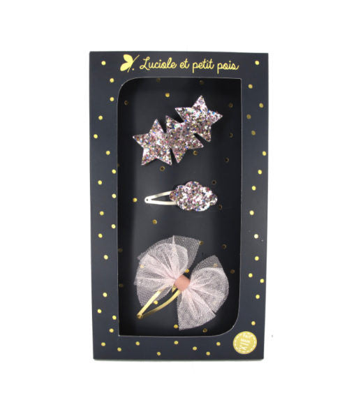 LUCIOLE ET PETIT POIS Pink Glitter Party Box