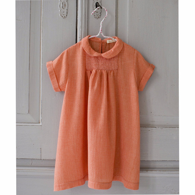 SISSONNE Mandarin Smocked Dress