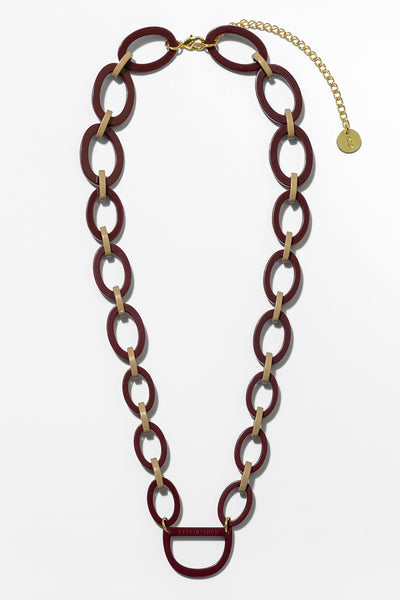 Original D Eyewear Necklace - N°2 Burgundy 1990 Glasses Chain