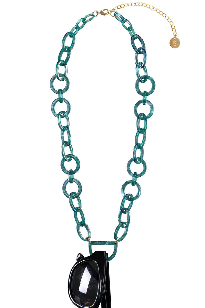Original D Eyewear Necklace - N°4 Emerald Green Glasses Chain