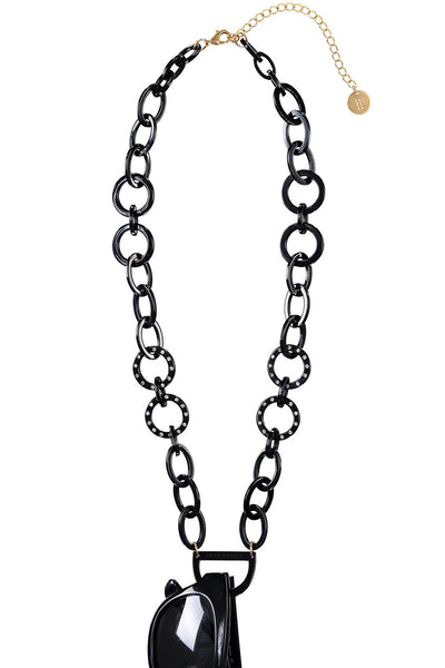 Original D Eyewear Necklace - N°4 Cyrstal All Black Glasses Chain