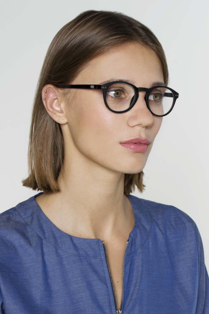 Devon Unisex Reading Glasses - Black