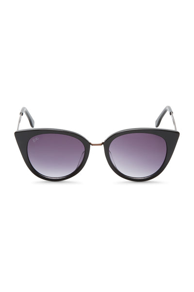 Olivia Cat-eye Acetate Sunglasses - Black
