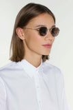 Arya Hexagon Retro Sunglasses - Rose