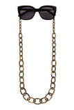 Smiley Small Eyeglasses Chain - Tiger Onyx
