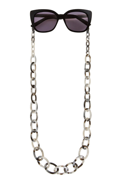 Smiley Small Eyeglasses Chain - Moonlight Grey