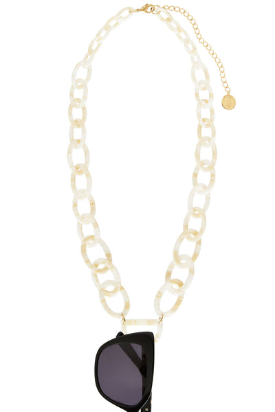 Original D Eyewear Necklace - N°3 Pearl White Glasses Chain