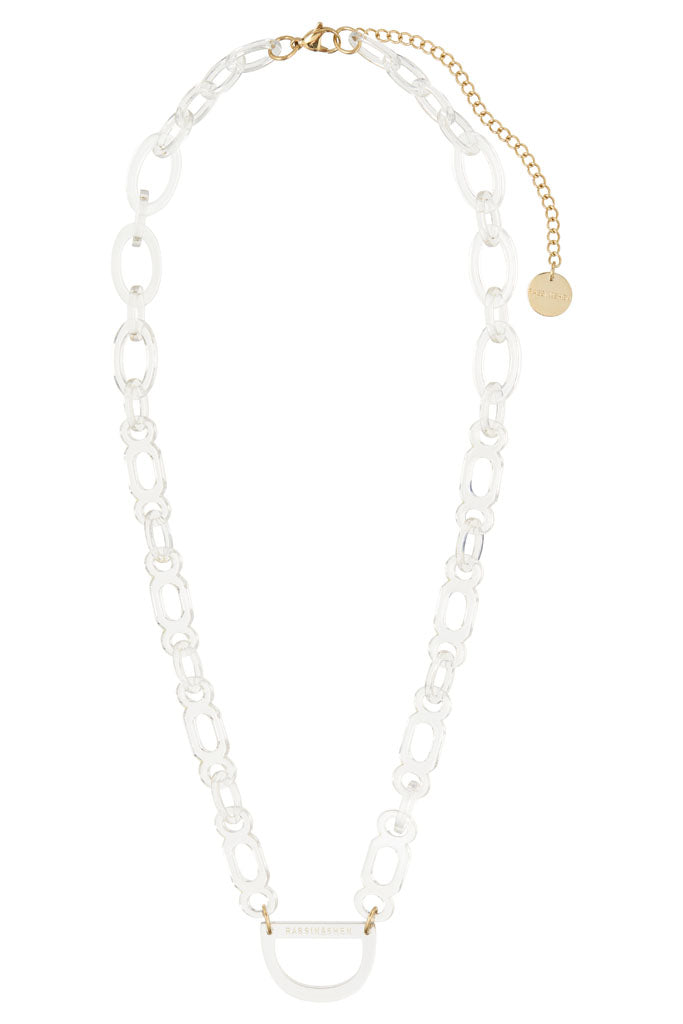 Original D Eyewear Necklace - N°1 Seashell White Glasses Chain