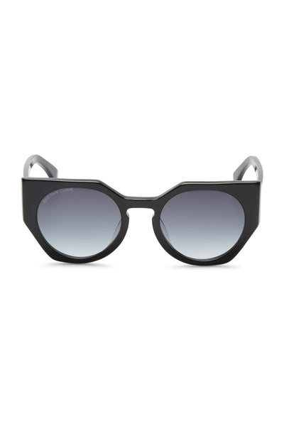 Anna Oversized Acetate Sunglasses - Black