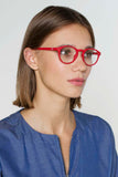 Devon Unisex Reading Glasses - Poppy Red