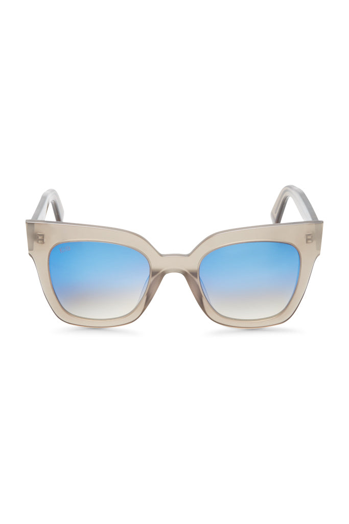 Emily Square Frame Mirrored Acetate Sunglasses