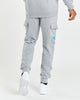 OG Overbrand Cargo Joggers - Heather Grey/Malibu Blue