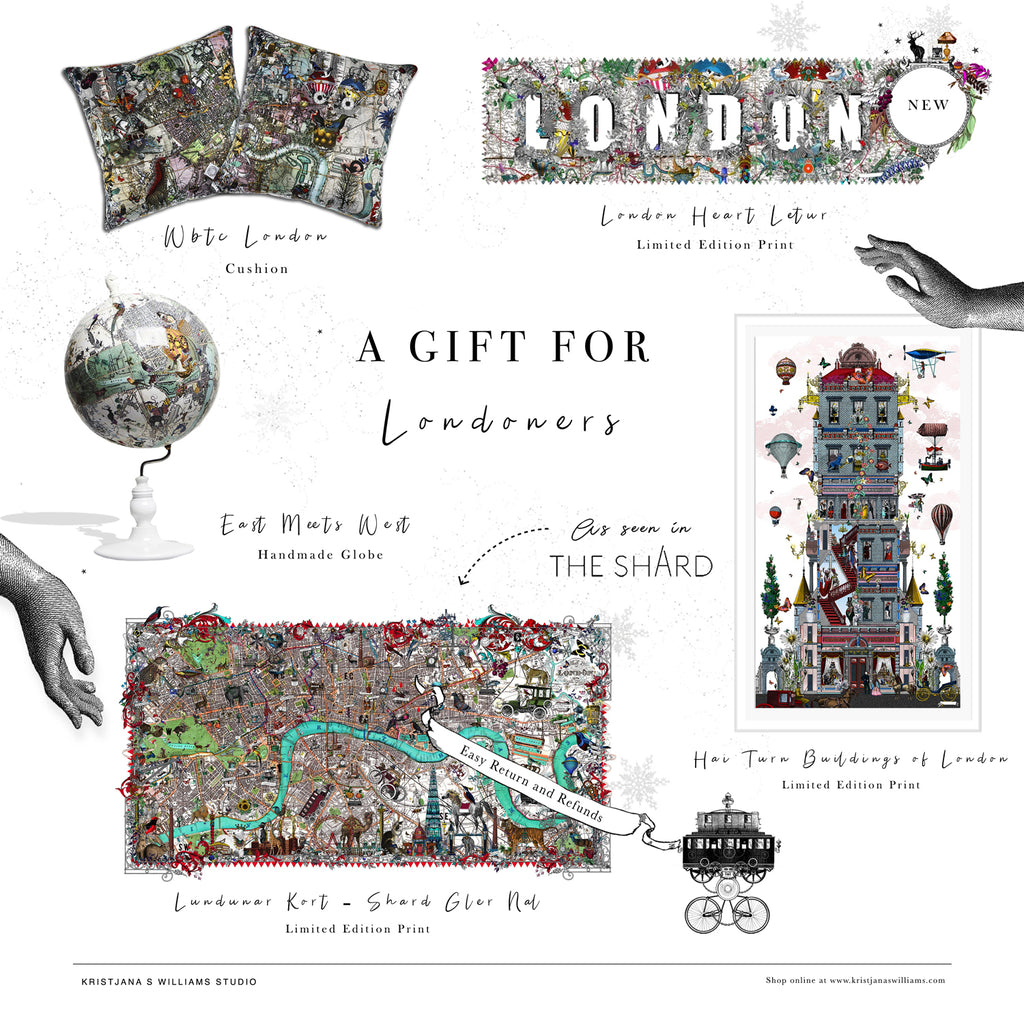 A gift for Londoners by artist Kristjana S Williams