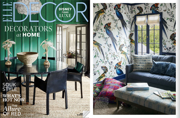 Wallpaper by Kristjana S Williams as seen in Elle Decor