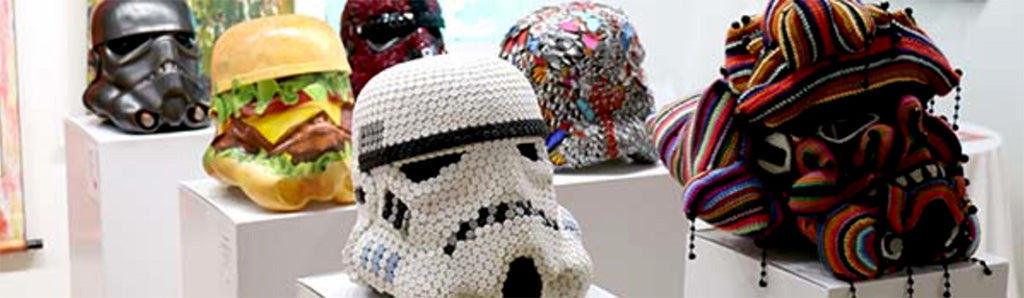 Red dot Miami Storm Trooper sculptures