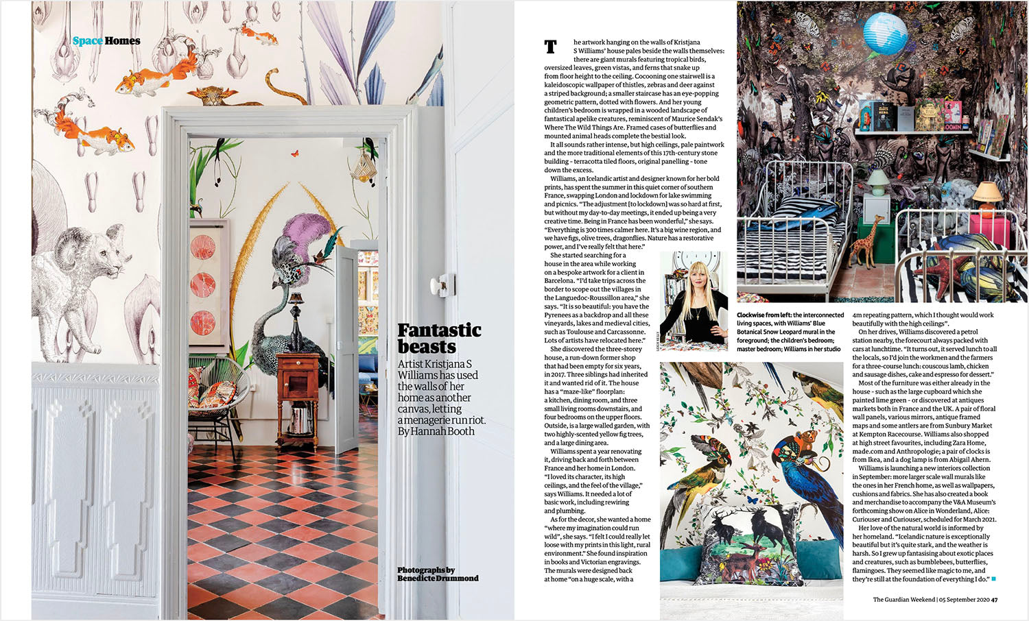 The Guardian article on French house by artist Kristjana S Williams