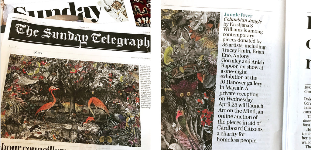 The Sunday Telegraph artist Kristjana S Williams donates to charity