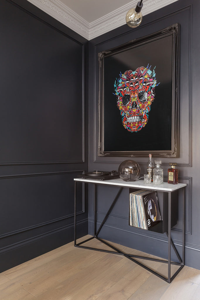 Skull wall art by artist Kristjana S Williams