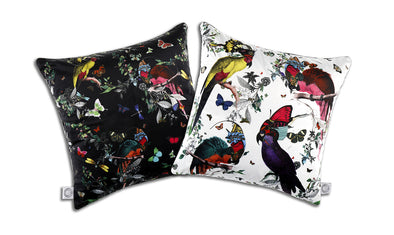 4 Lear Parrots Cushion - Kristjana S Williams Studio