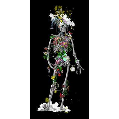 Ad moldu skaltu verda - Still Skeleton black - Art Print - Kristjana S Williams Studio