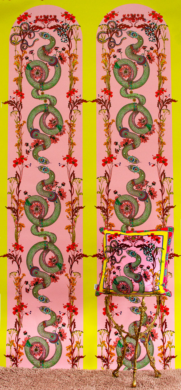 Adorned Snakar Wallpaper - Kristjana S Williams Studio