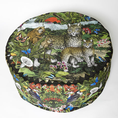Interior foot rest bean bag by artist Kristjana S Williams