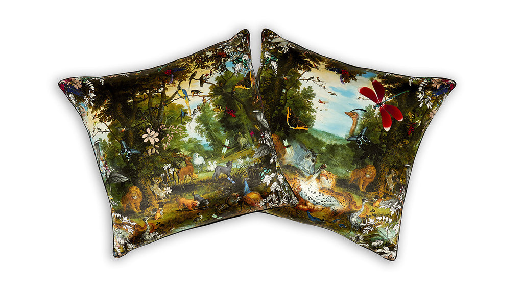 Animal Eve Garden Cushion silk