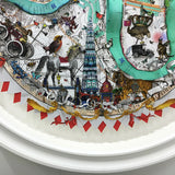 London themed circular Original artwork by artist Kristjana S Williams
