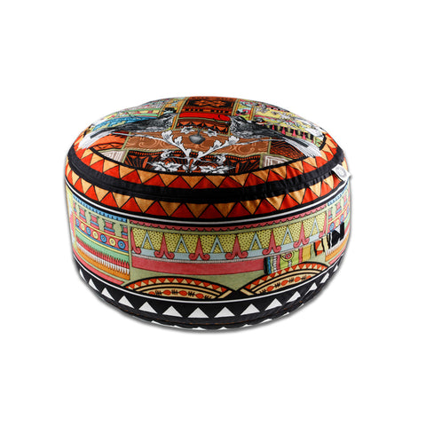 Aztec Snow Pouffe - Kristjana S Williams Studio
