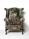 Wonder Garden Adult Armchair - Black Forest - Kristjana S Williams Studio
