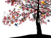 Bleika Sakura Candy Floss Tree - Art Print - Kristjana S Williams Studio