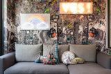 London Cushion interior design soft furnishing by artist Kristjana S Williams