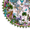 Ceylon Circular Elephants Palm Dusk - Art Print - Kristjana S Williams Studio
