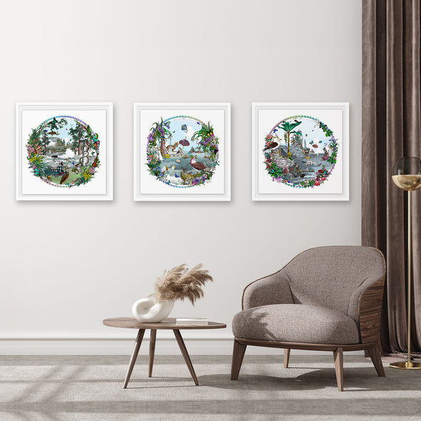Circular Sjavarsida Lighthouse - Art Print - Kristjana S Williams Studio
