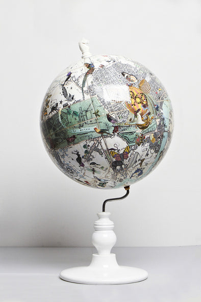East Meets West Lundunar Kort Globe - Small - Kristjana S Williams Studio