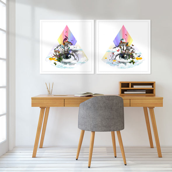 Eg se tig - Rainbow eyed - Art Print Collection - Kristjana S Williams Studio