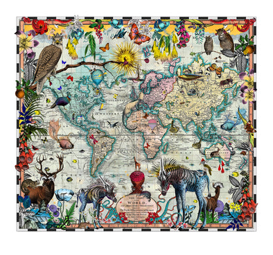 Eminent Navigators' World Chart Map - Art Print - Kristjana S Williams Studio