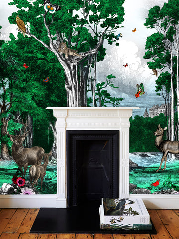 Forest Wallpaper by artist Kristjana S Williams