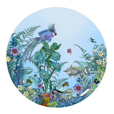 Fugl Ne Fiskur - Circular Sea-born - Art Print - Kristjana S Williams Studio