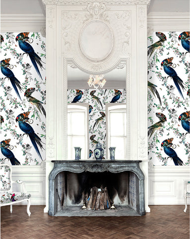 Giant Lear Green and Blue Wallpaper Mural