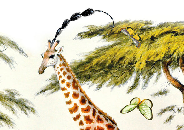 Giraffe Gardur - Art Print - Kristjana S Williams Studio
