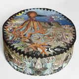 Wonder Garden Pouffe - Great Barrier Reef - Kristjana S Williams Studio