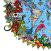 Here be Dragons - Svifandi blue World - Art Print - Kristjana S Williams Studio