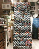 Hexagonal Marble Floral Wall Mural - Kristjana S Williams Studio