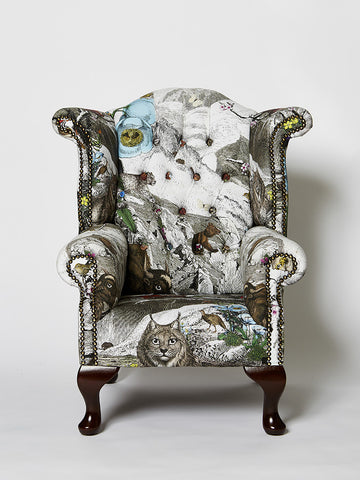Wonder Garden Children's Armchair - Himalayan Mountain - Kristjana S Williams Studio